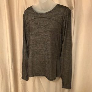 Lululemon Gray Fitted Top
